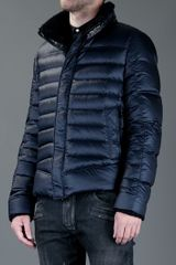 Balmain Padded Jacket in Blue for Men (navy) - Lyst