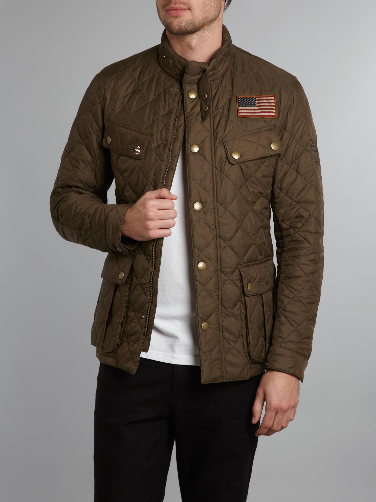 Barbour Quilted Steve Mcqueen Jefferies Jacket in Green for Men | Lyst : steve mcqueen quilted jacket - Adamdwight.com