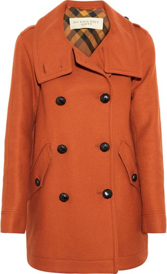 Burberry Brit Doublebreasted Woolblend Coat - Lyst