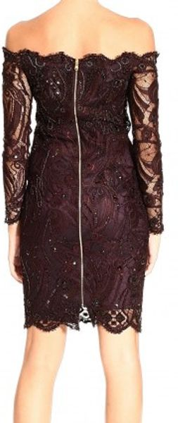 Emilio Pucci Strapless Long Sleeve Lace Embroidery Dress