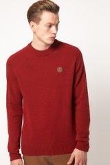 Fred Perry Jumper Tweed Crew Neck - Lyst
