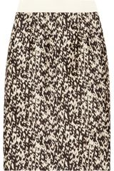 Giambattista Valli Knit-Print Wool and Silk Blend Skirt - Lyst