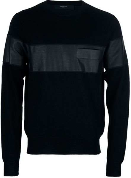 Givenchy Long Sleeve Sweater in Black for Men - Lyst