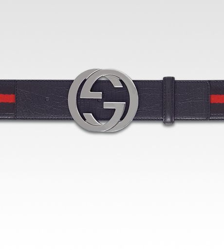 Gucci Interlocking G Belt in Blue for Men - Lyst