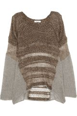 Helmut Lang Knitted Silk and Alpaca Blend Sweater - Lyst