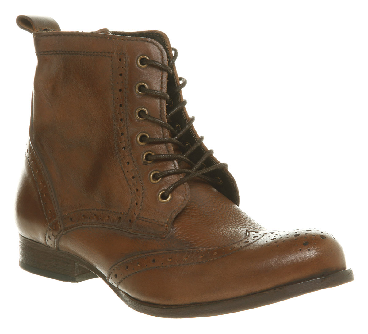 hudson sherwin brogue ankle boot antique ltr in brown