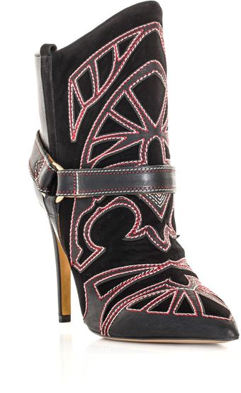 Isabel Marant Blackson Embroidered Boots - Lyst