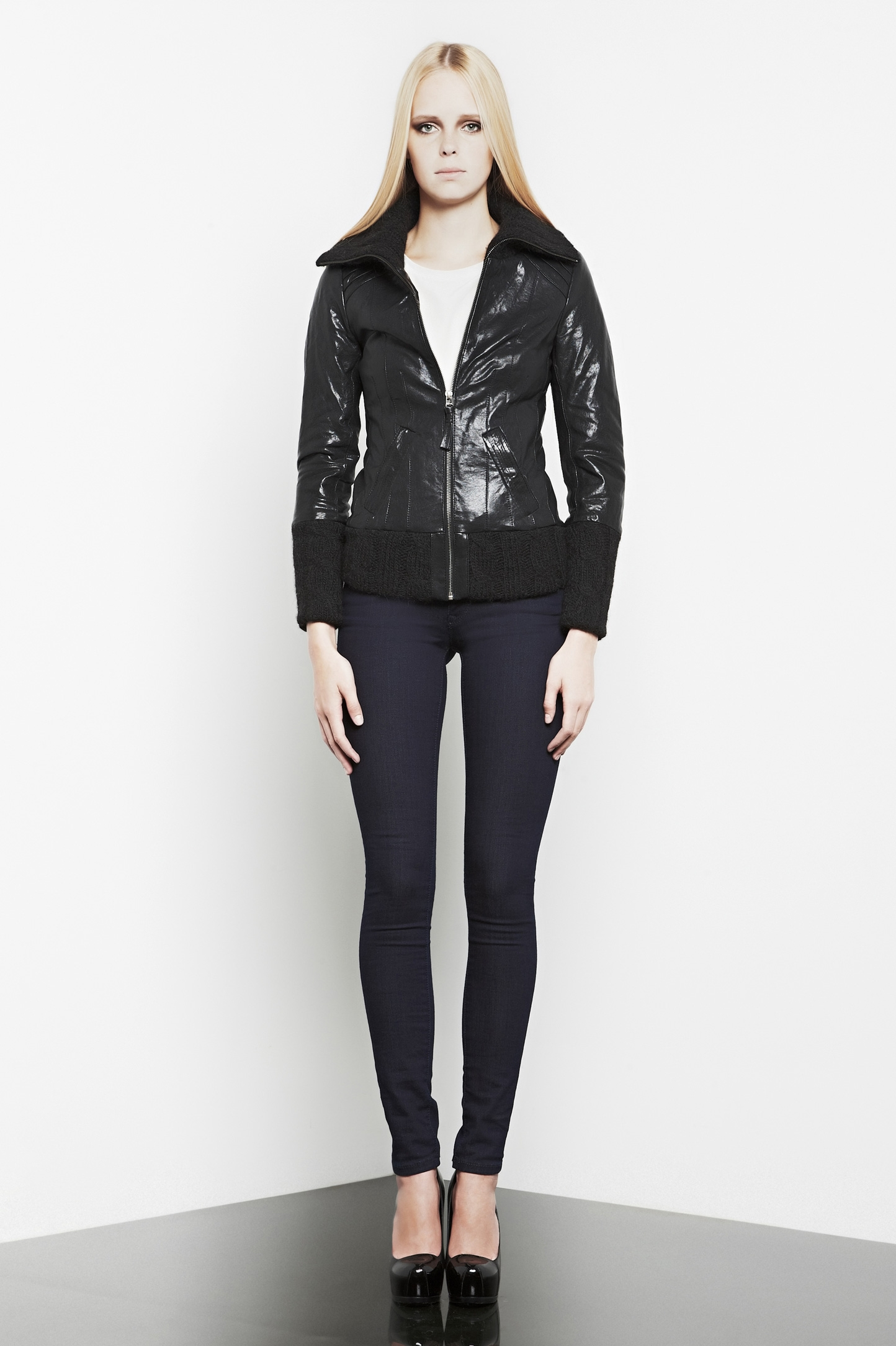 Michael Kors Leather Jacket Womens