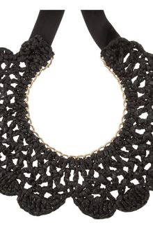 Marni Crocheted Coal Bib Necklace - Lyst