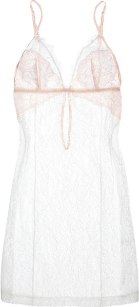 Mimi Holliday By Damaris Blossom Lace Chemise in White - Lyst