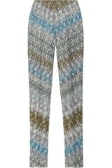 Missoni Highrise Crochetknit Leggingsstyle Pants in Multicolor (gray) - Lyst