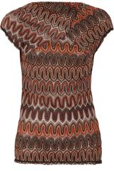 Missoni Crochetknit Top in Brown (multicolored) - Lyst