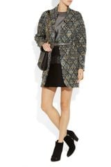 Missoni Diamond Bouclé Coat in Multicolor (multicolored) - Lyst
