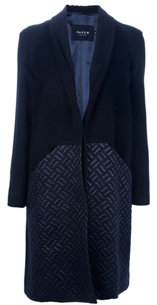 Paper London Carnaby Coat in Black - Lyst