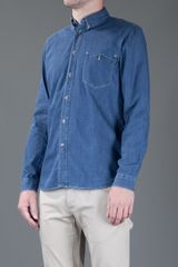 Paul Smith Denim Shirt in Blue for Men (denim) - Lyst