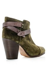 Rag & Bone Harrow Suede Boots in Green - Lyst