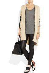 Reed Krakoff Woolblend and Leather Cardigan in Beige (oatmeal) - Lyst