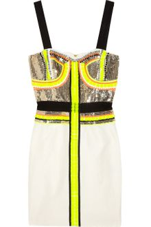 Sass And Bide Stripe Effect Embellished Silkblend Dress - Lyst