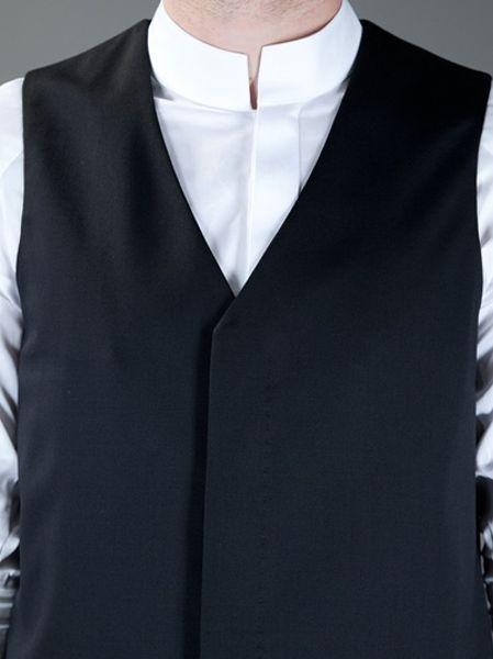 Thamanyah Long Sleeveless Vest In Black For Men Lyst