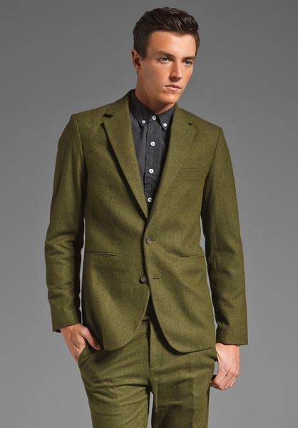 Mens Green Suit Jacket Suit Jacket in Green For