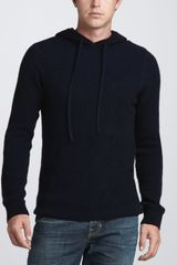 Vince Thermal Henley Sweater Coastal - Lyst