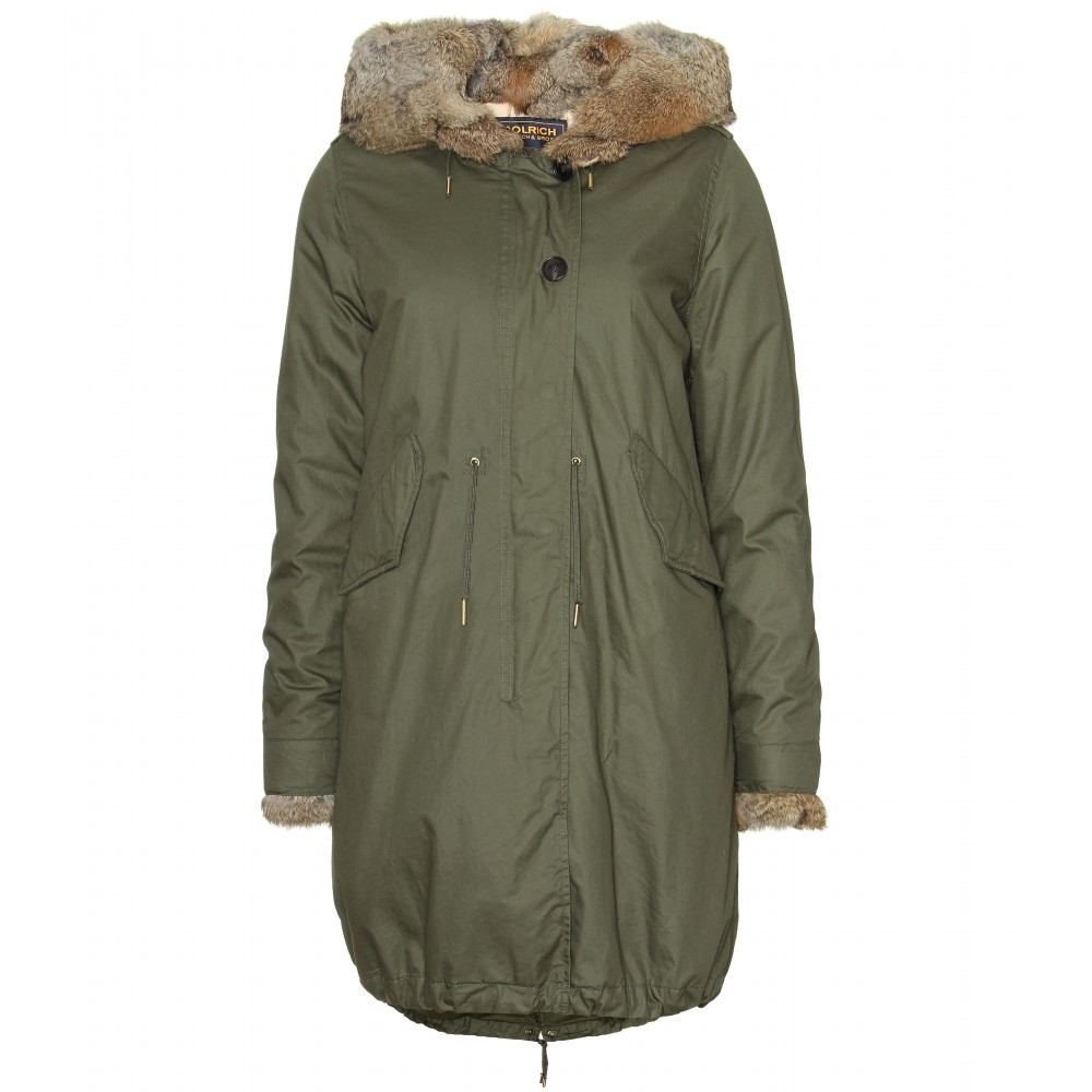 woolrich eskimo parka in green army lyst. Black Bedroom Furniture Sets. Home Design Ideas