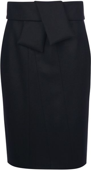 Balenciaga Tie Sash Skirt in Black - Lyst