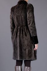 Burberry Prorsum Mink Fur Coat in Brown - Lyst