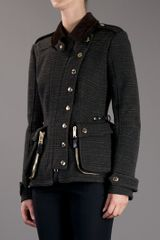 Burberry Prorsum Asymmetric Button Jacket in Gray (grey) - Lyst