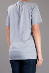 Burberry Prorsum Owl Print Tshirt in Gray (grey) - Lyst