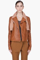 Damir Doma  Leather Jubbi Scarf Jacket - Lyst