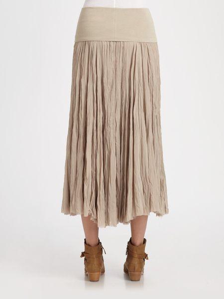 Silk Broomstick Skirt 30