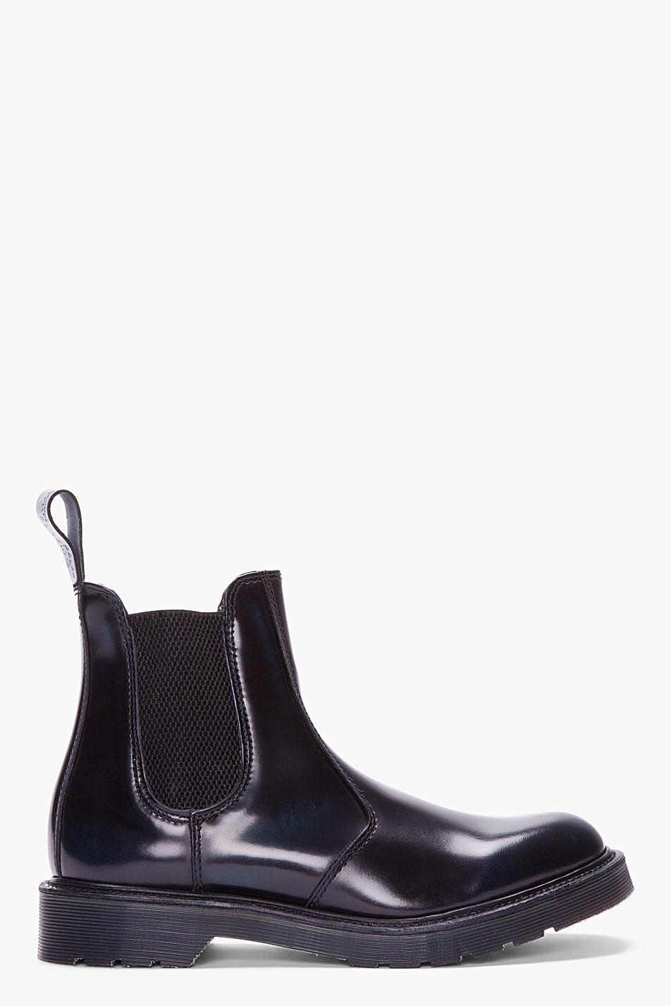 dr martens black patent leather chelsea boots in black for men lyst. Black Bedroom Furniture Sets. Home Design Ideas