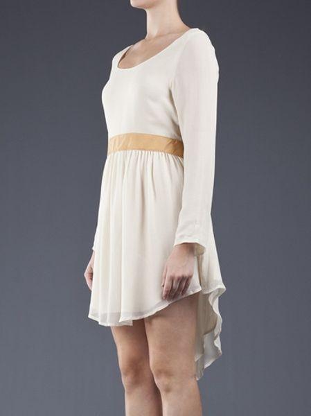 Flannel Showtime Dress In Beige Cream Lyst