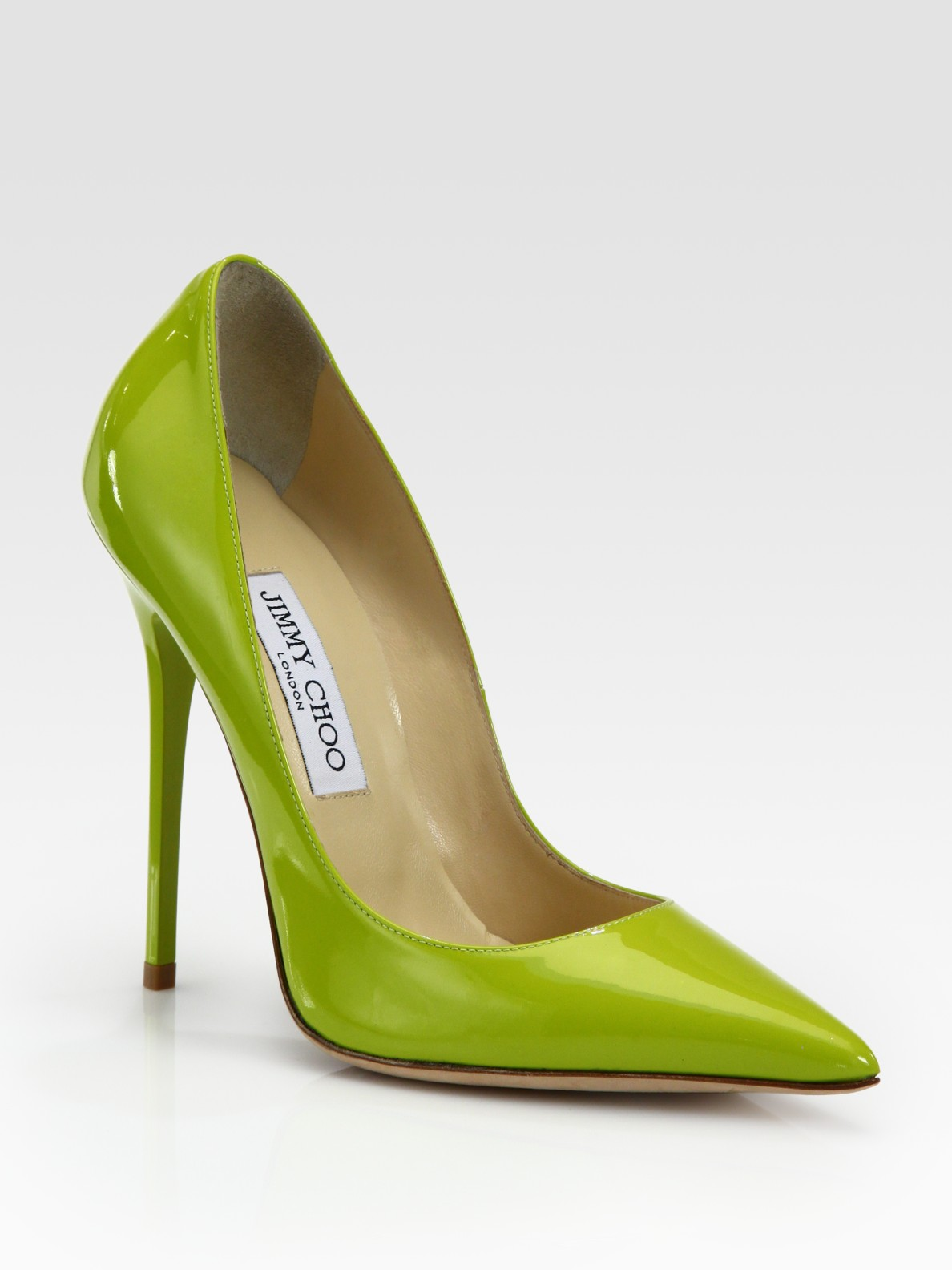 Lyst Jimmy Choo Anouk Patent Leather Pumps In Green