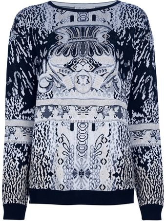 Mary Katrantzou Long Sleeve Knit Sweater - Lyst