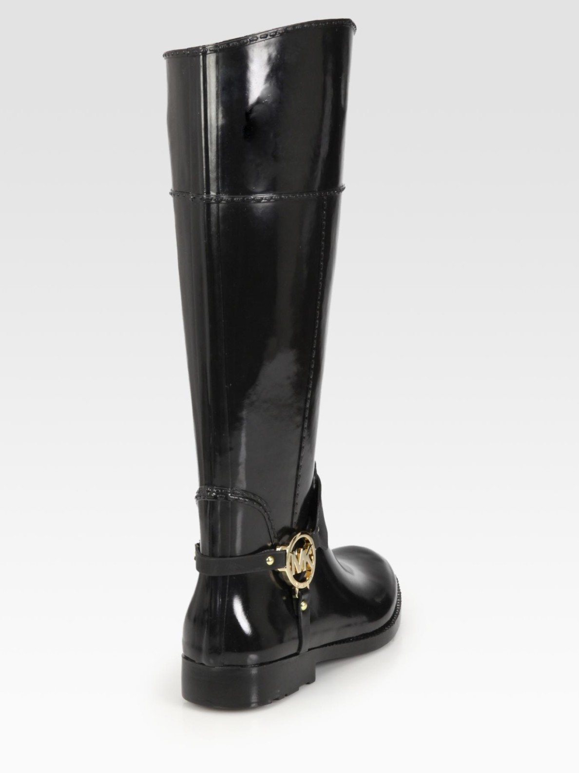 Lyst Michael Michael Kors Fulton Harness Rain Boots In Black