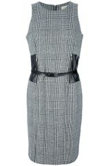 Michael Kors Belted Shift Dress - Lyst