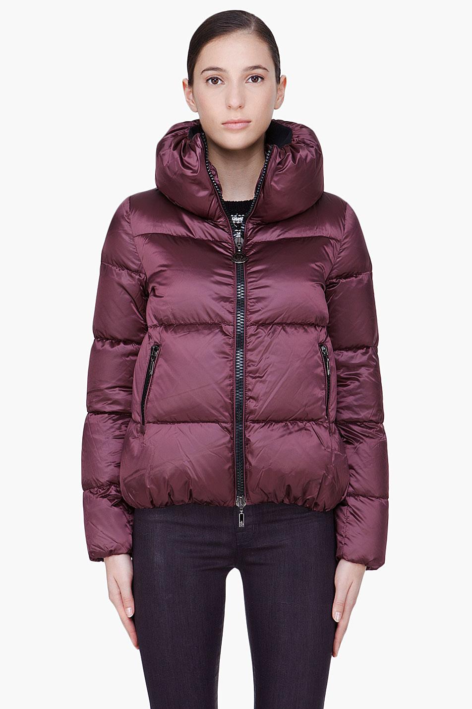 Lyst moncler burgundy padded erable jacket in purple