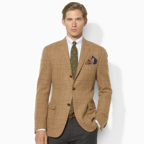 Polo ralph lauren Harvard Houndstooth Sport Coat in Brown for Men ...