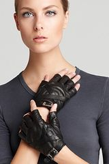 Rachel Zoe Cross Strap Fingerless Gloves