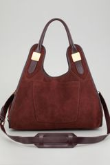 Rachel Zoe Lucas Medium Suede Shopper Bag Sella - Lyst