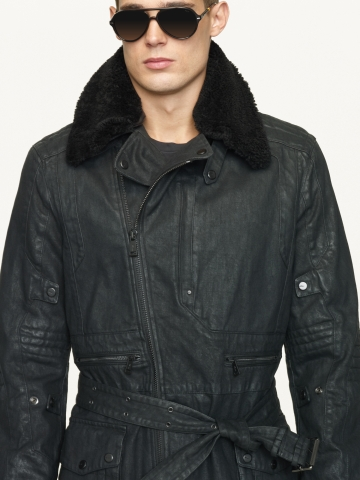 Lyst Ralph Lauren Black Label Denim Touring Trench Coat