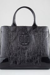 Tory Burch Ella Crinkled Tote Bag Black - Lyst