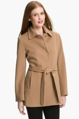 Fleurette Short Loro Piana Wool Wrap Coat - Lyst