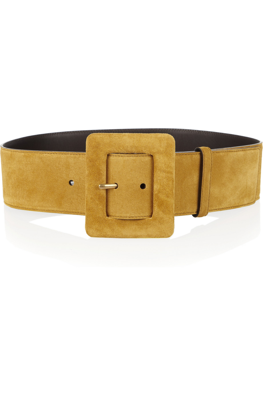 Saint Laurent Suede Waist Belt In Brown Saffron Lyst