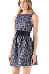 Alice + Olivia Lillyanne Sleeveless Mini Dress in Blue - Lyst
