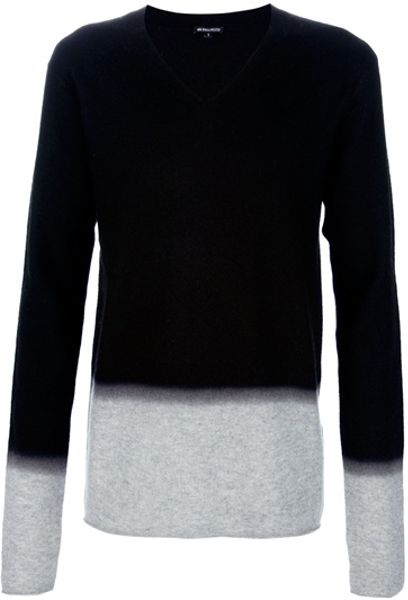 Ann Demeulemeester Gradient Sweater in Black for Men - Lyst