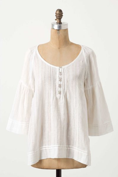 Anthropologie City Cousin Blouse in White