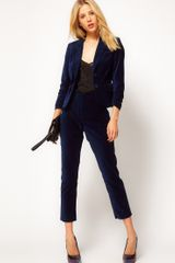 ASOS Collection Asos Velvet Tux Trousers - Lyst